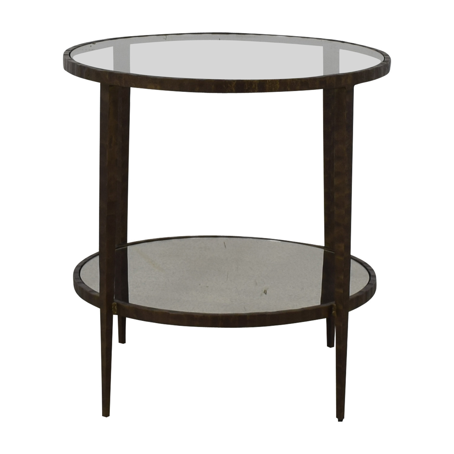 Crate & Barrel Crate & Barrel Clairemont Round Side Table used