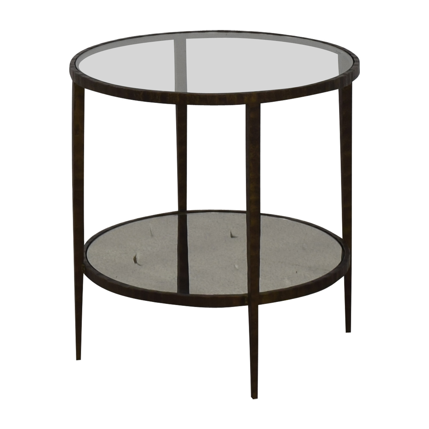 Crate & Barrel Crate & Barrel Clairemont Round Side Table for sale