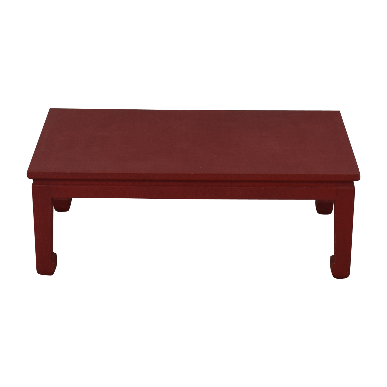 82% OFF   One Kings Lane One Kingu0027s Lane Asian Inspired Grass Cloth Coffee  Table In Red / Tables