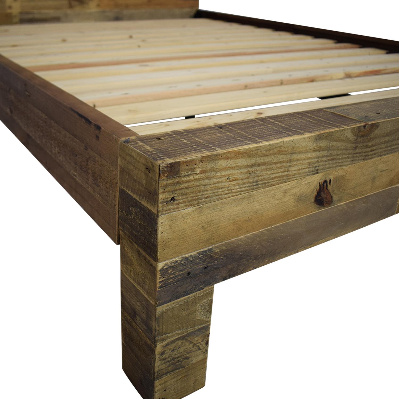 buy West Elm Emmerson Reclaimed Wood Queen Bed West Elm Beds