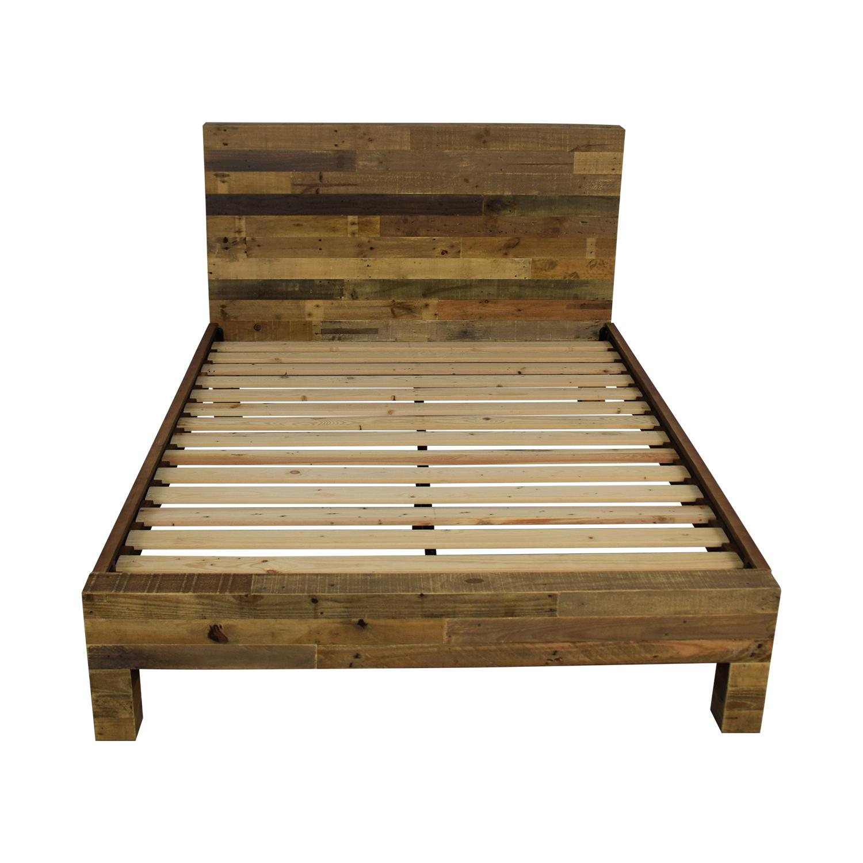 West Elm West Elm Emmerson Reclaimed Wood Queen Bed Bed Frames