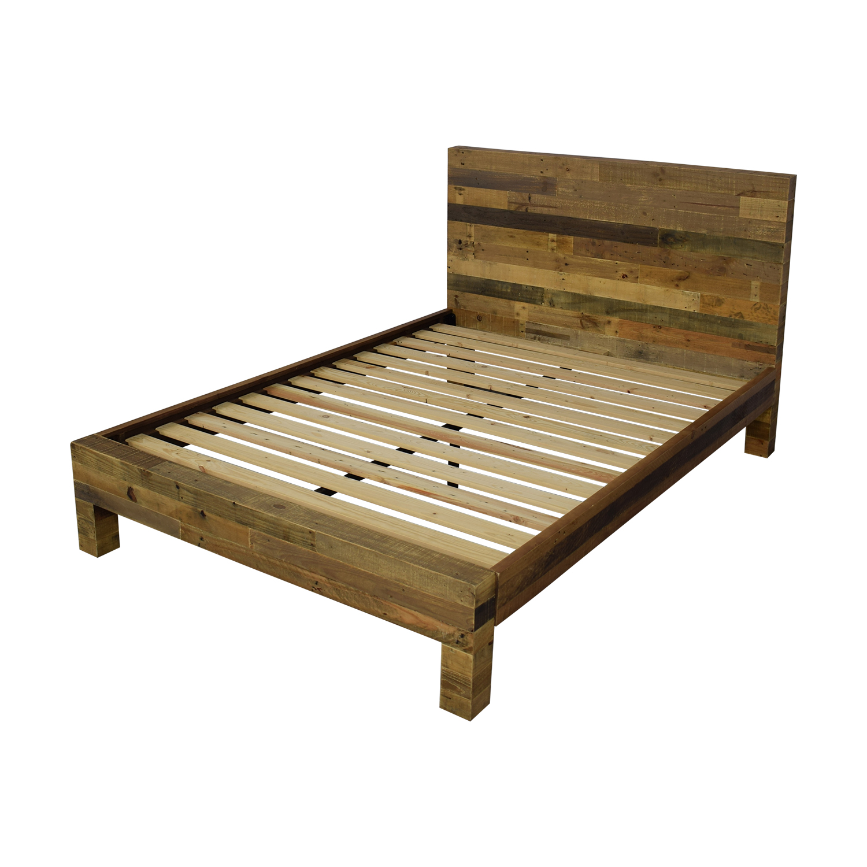 shop West Elm Emmerson Reclaimed Wood Queen Bed West Elm Bed Frames