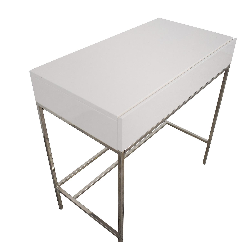 West Elm West Elm White Lacquer Mini Desk white