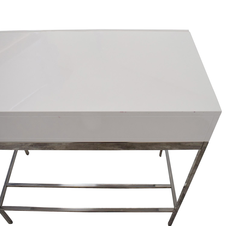 buy West Elm West Elm White Lacquer Mini Desk online