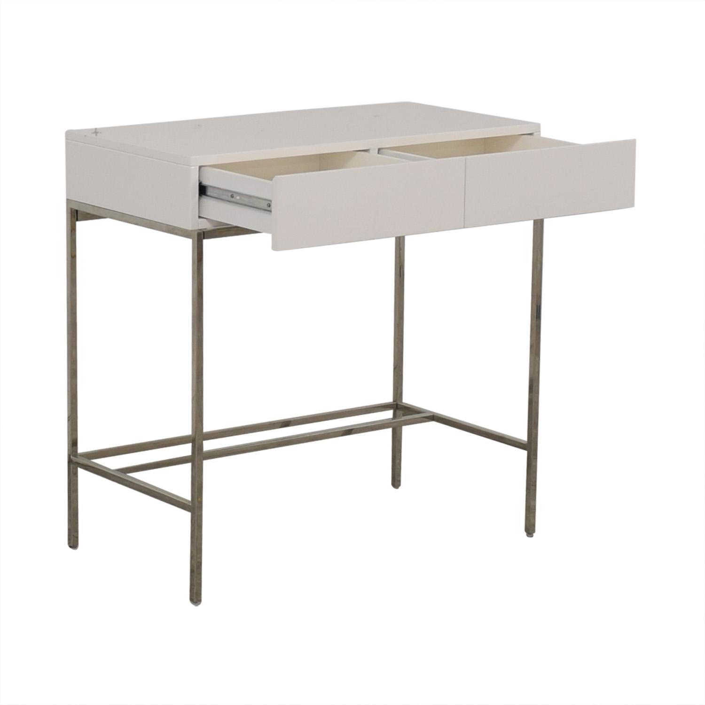 shop West Elm White Lacquer Mini Desk West Elm
