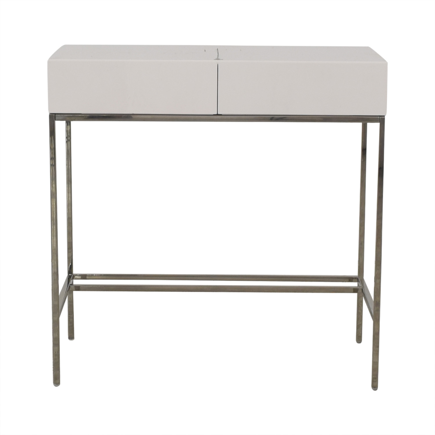 West Elm West Elm White Lacquer Mini Desk for sale