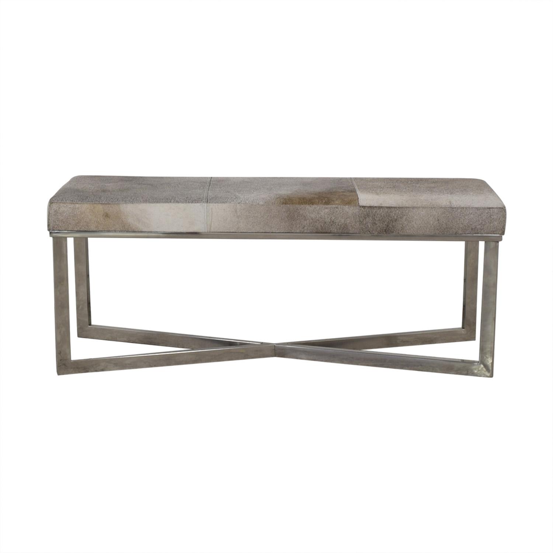 UMA UMA Cowhide Bench with Chrome Legs on sale