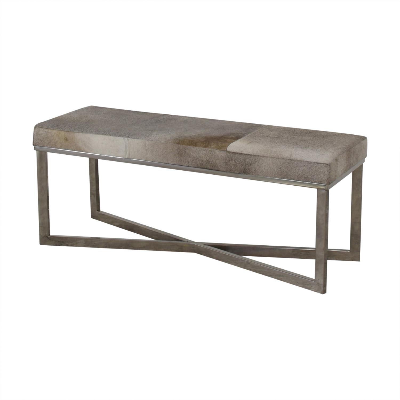 shop UMA Cowhide Bench with Chrome Legs UMA
