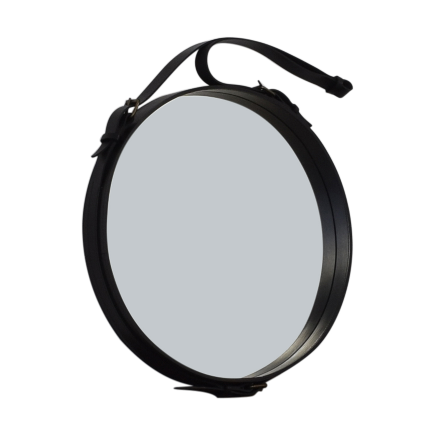 Circular Hanging Mirror with Leather Strap Frame dimensions