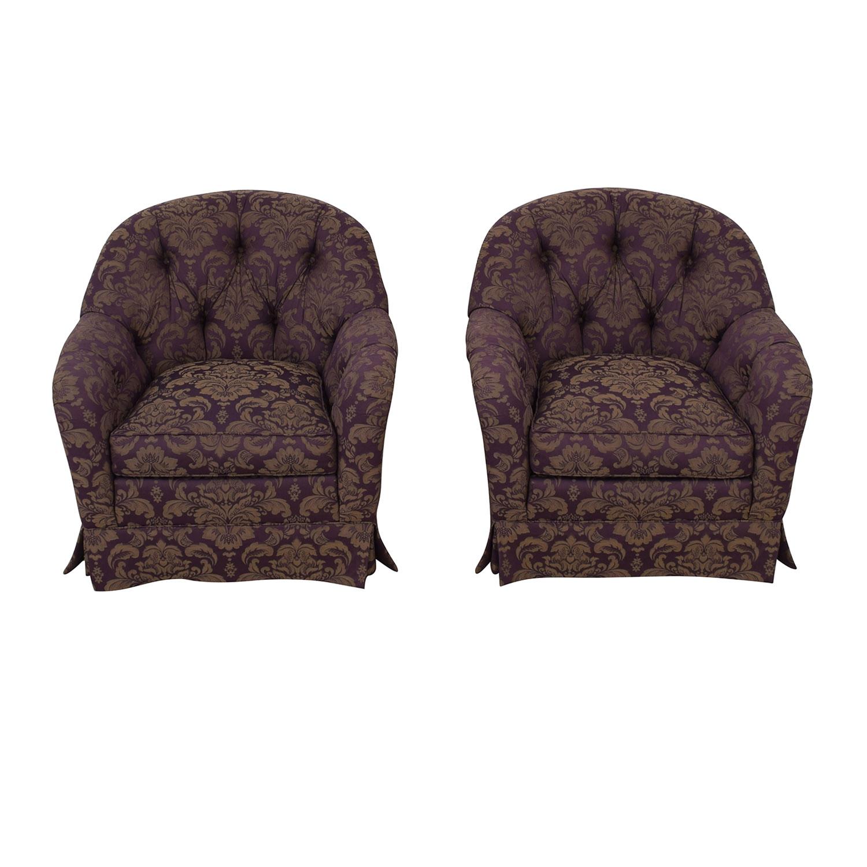 Patterned Swivel Chairs purple