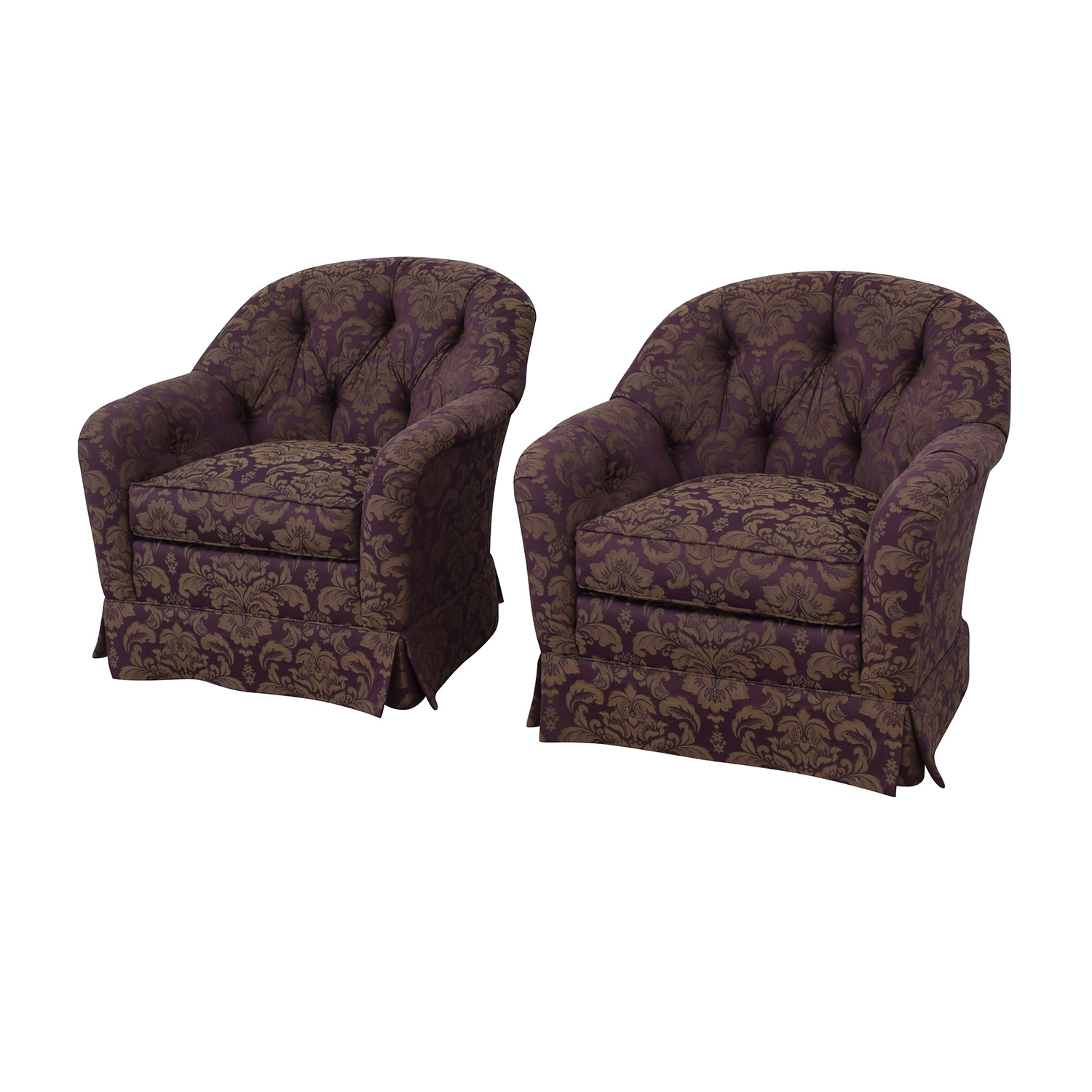 Patterned Swivel Chairs