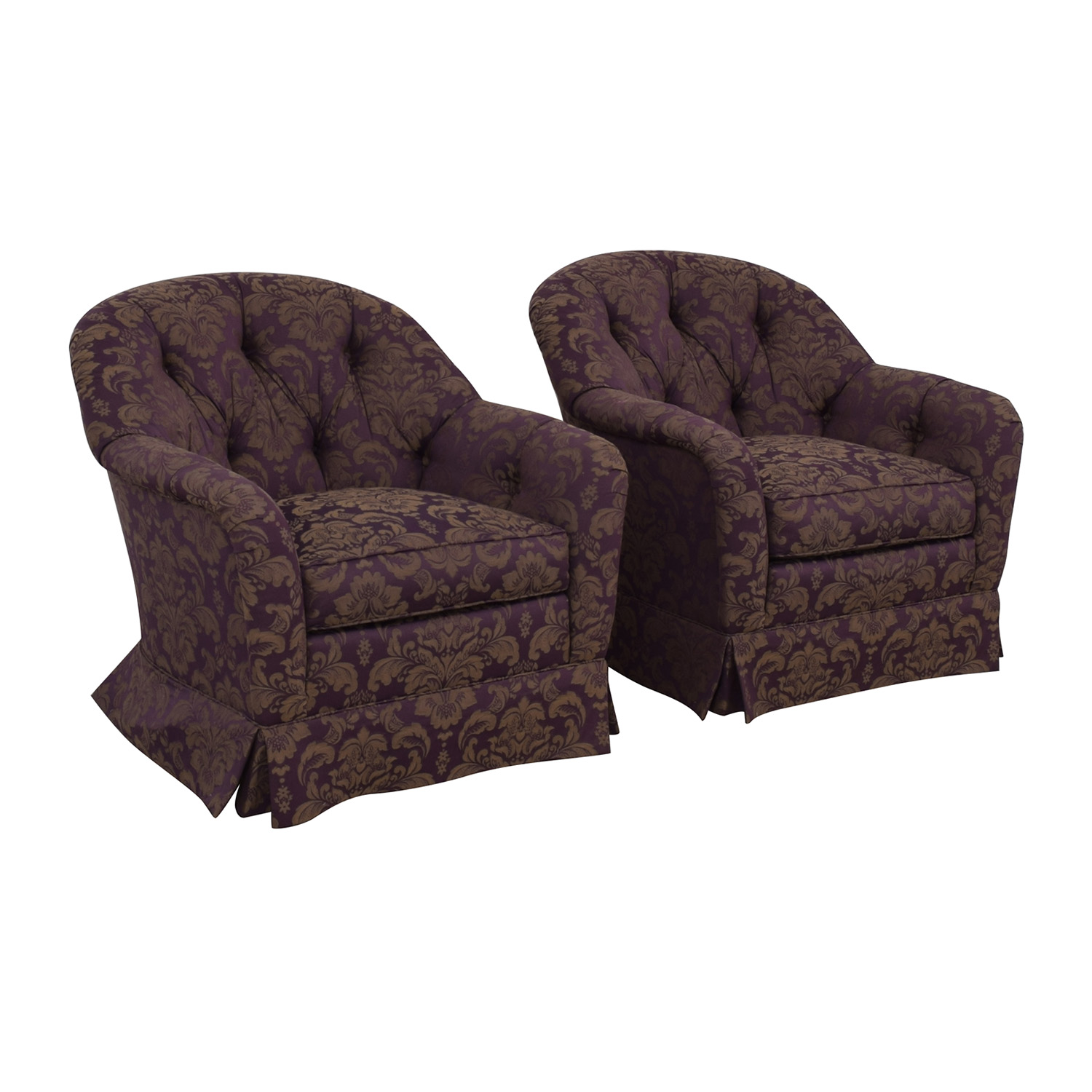Patterned Swivel Chairs for sale