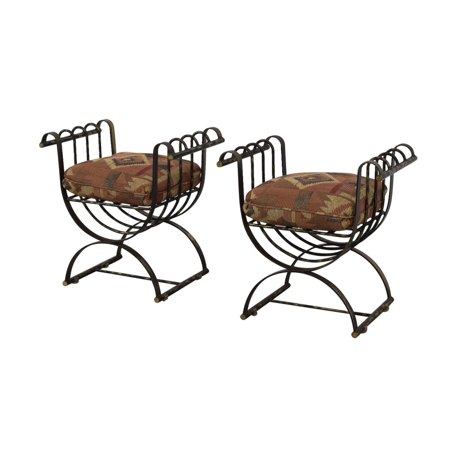 Wrought Iron Decorative Seats multi color