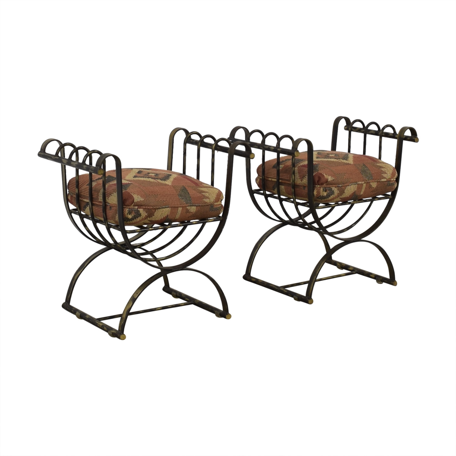 Wrought Iron Decorative Seats / Accent Chairs