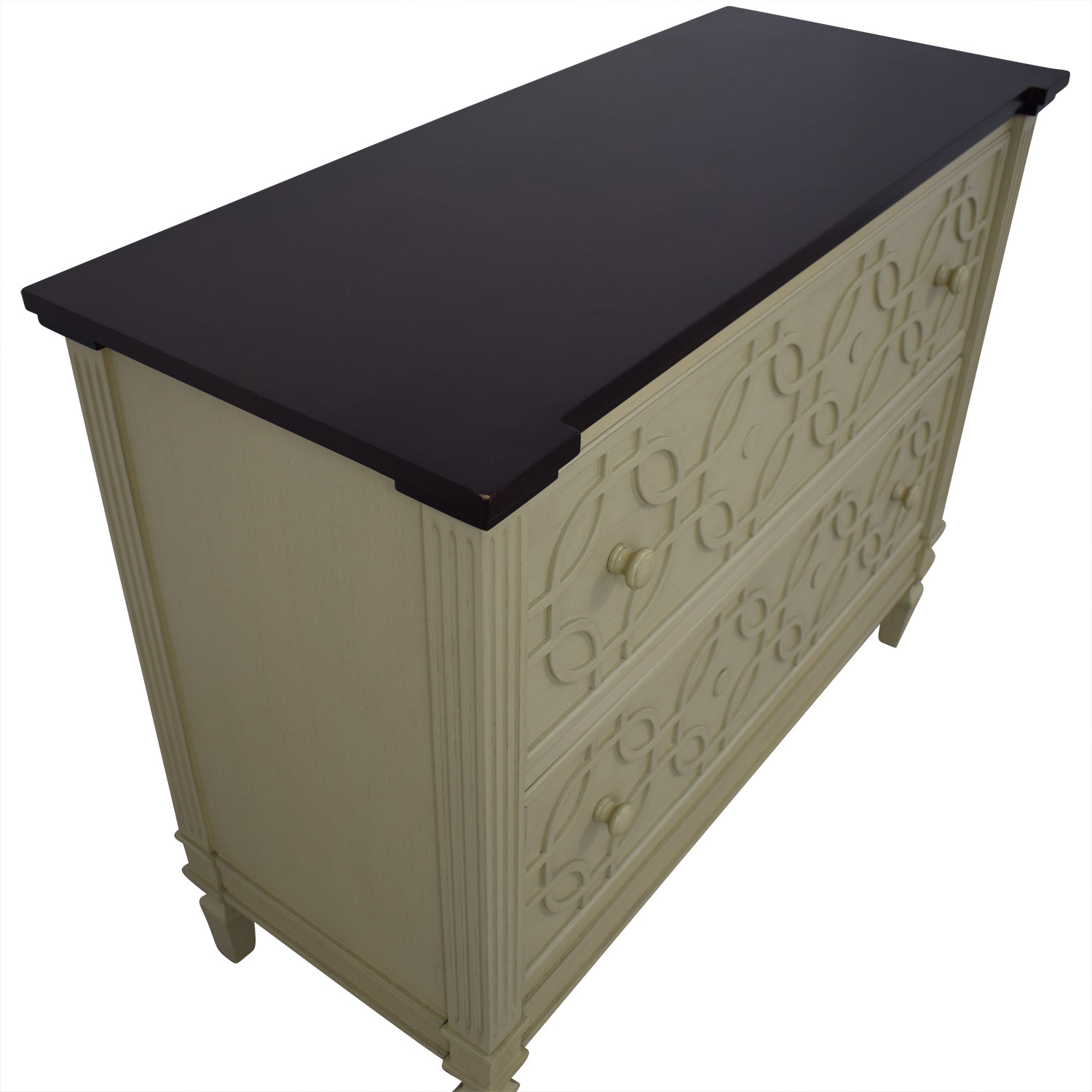 Two Drawer Decorative Chest discount