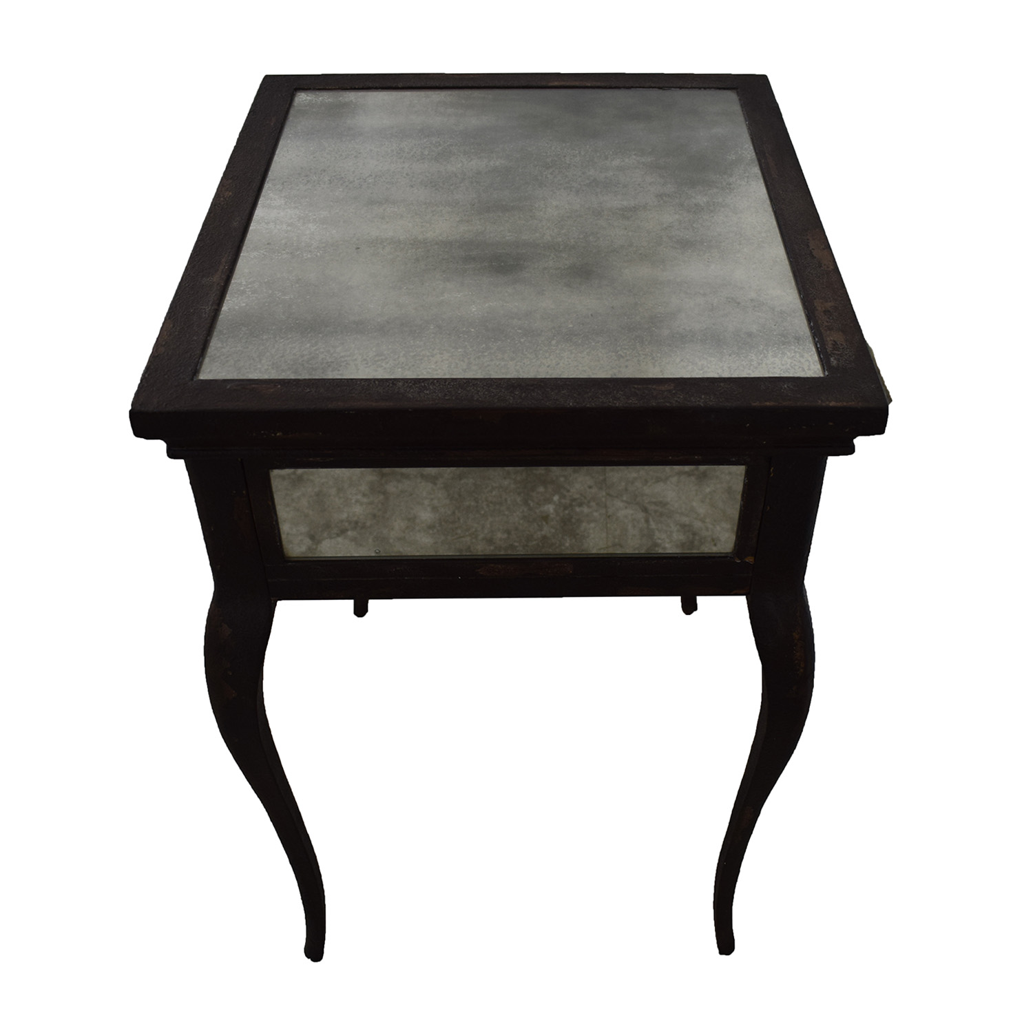 Uttermost Uttermost Smoked Mirror and Metal End Table with One Drawer on sale