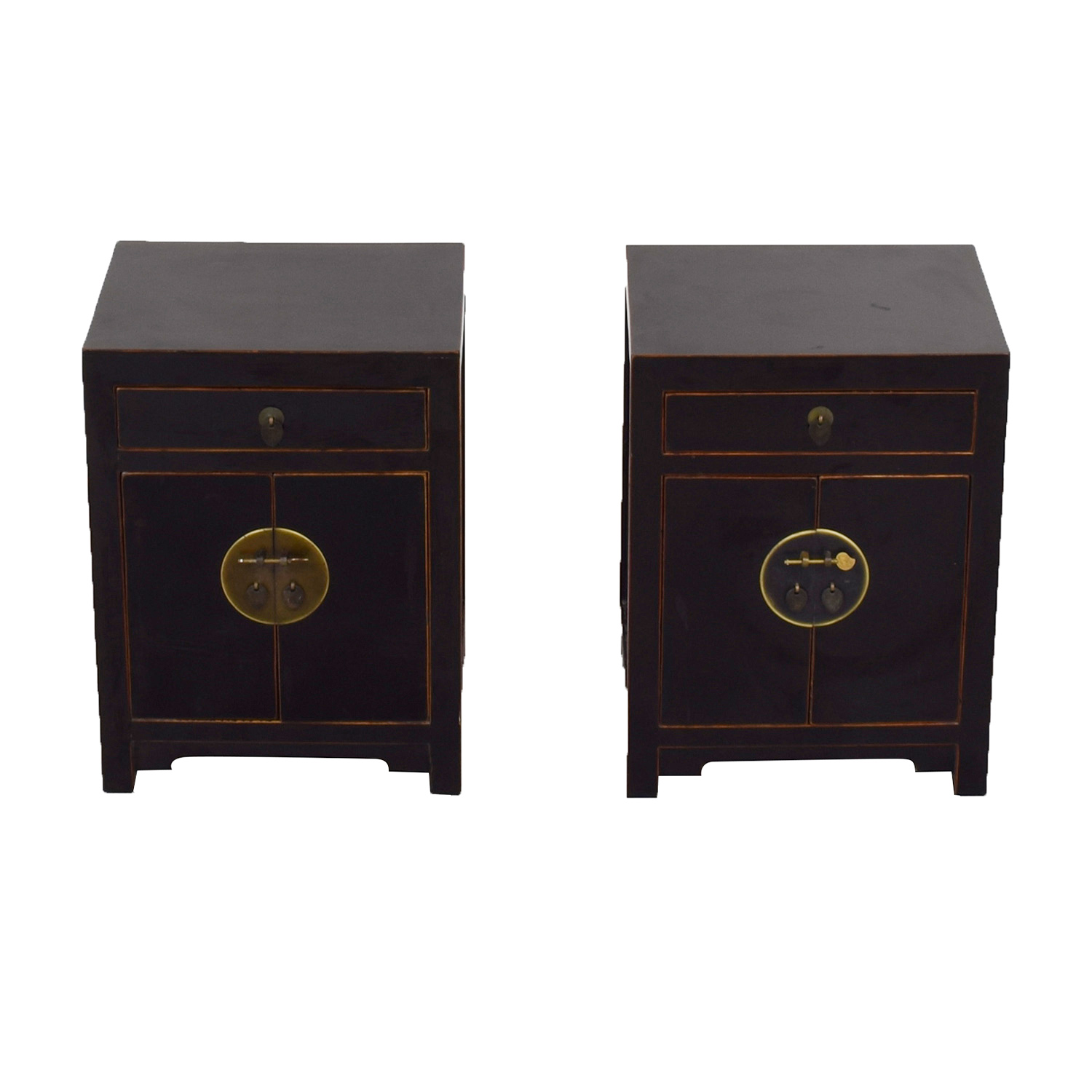 shop Pair of Asian Night Stands  End Tables