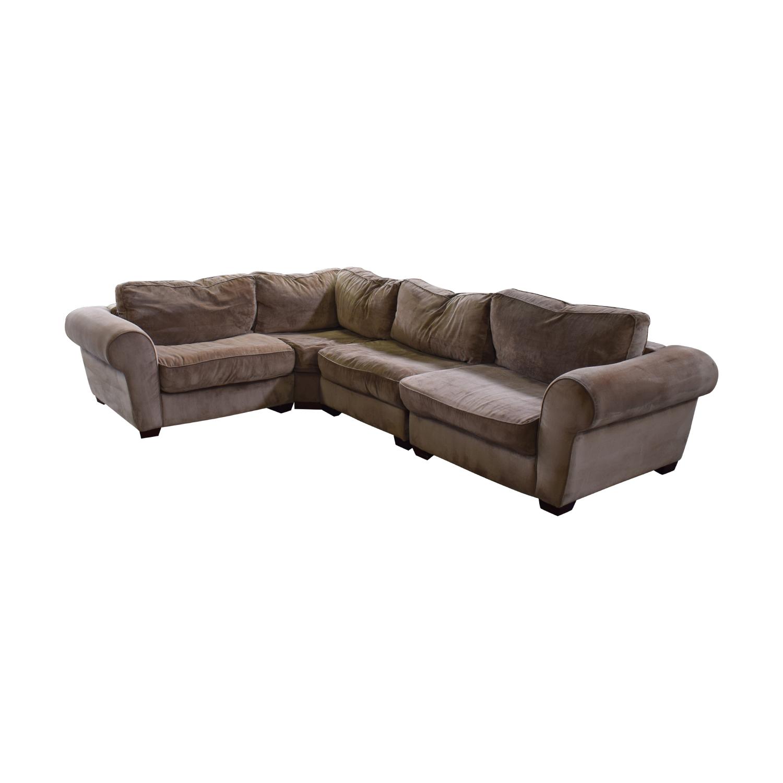 DeCoro DeCoro Sectional Sofa brown