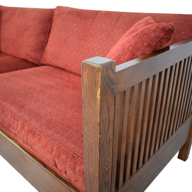 buy Stickley Prairie Settie Sofa Stickley Furniture Sofas