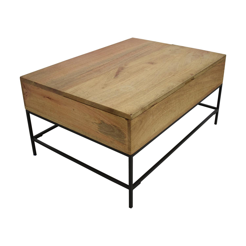buy West Elm Industrial Storage Coffee Table West Elm Tables