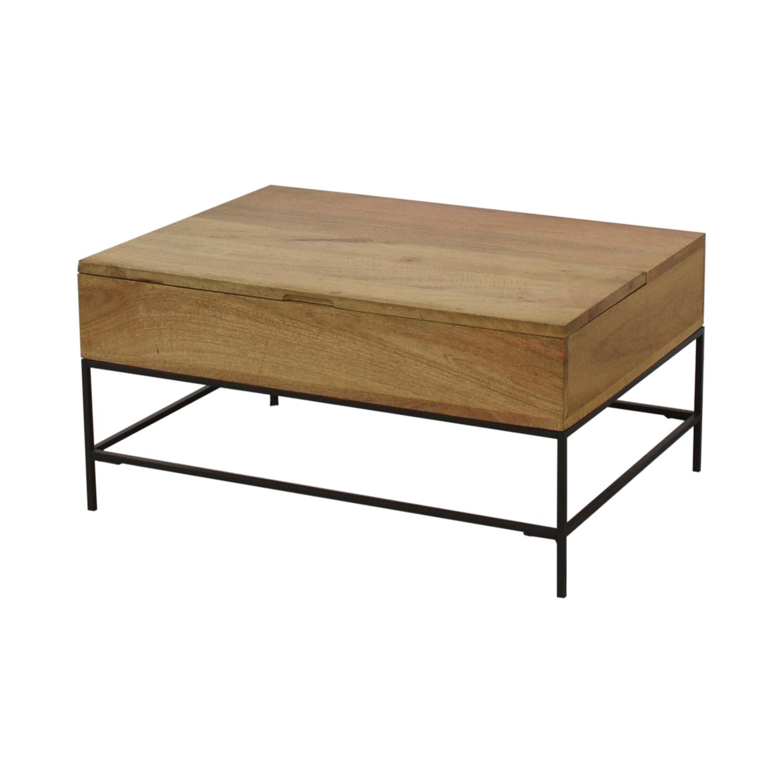 West Elm West Elm Industrial Storage Coffee Table for sale