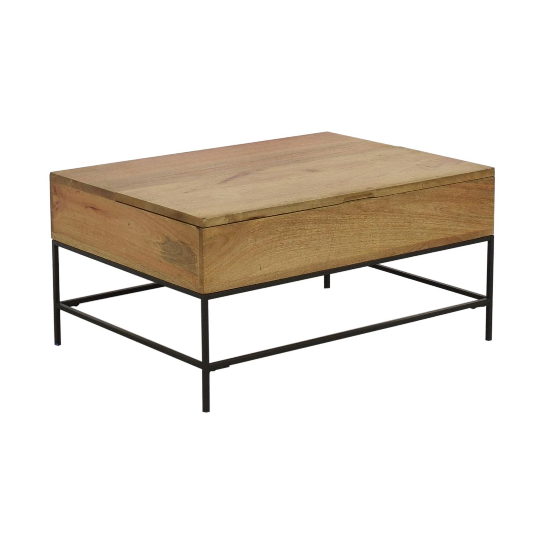 shop West Elm West Elm Industrial Storage Coffee Table online