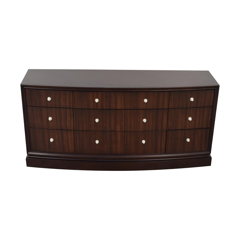 Ethan Allen Ethan Allen Nine Drawer Dresser dark brown