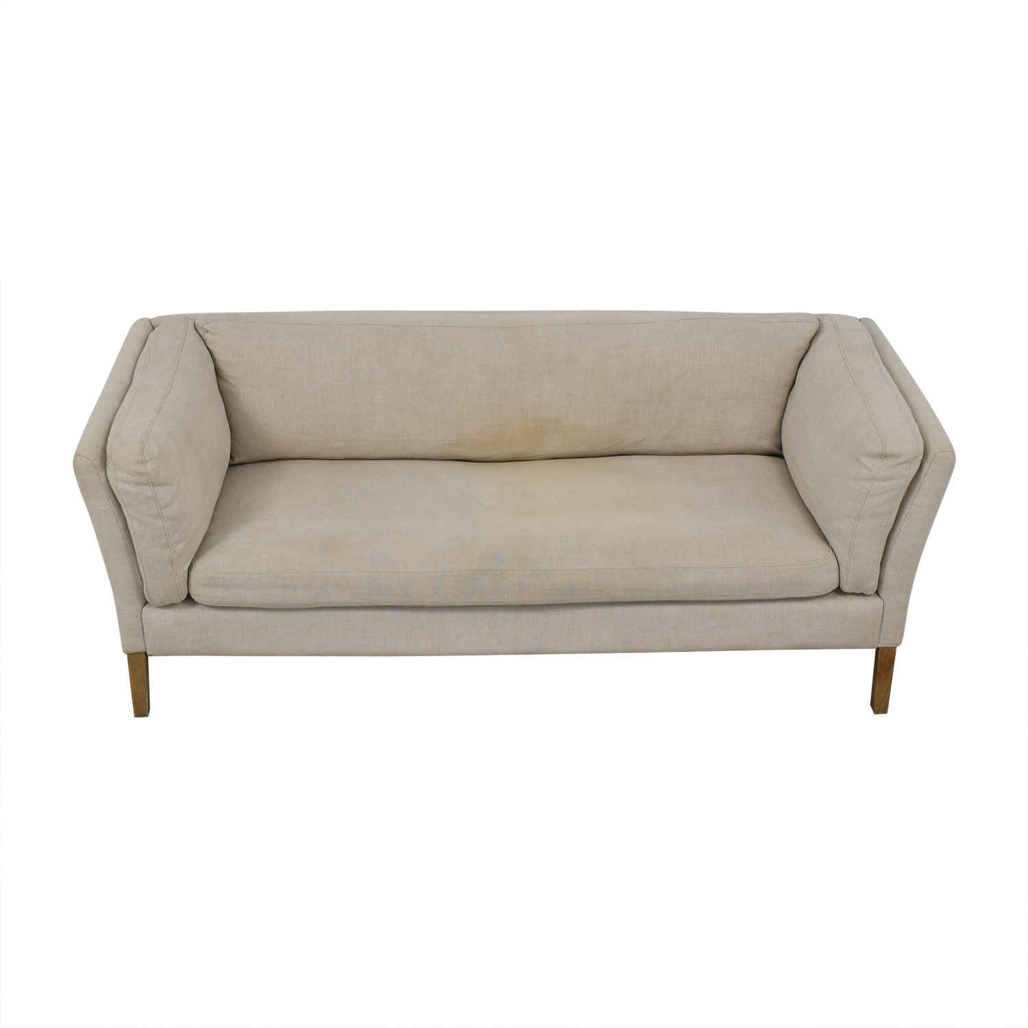 Restoration Hardware Restoration Hardware Sorensen Sofa in Belgian Natural Linen for sale