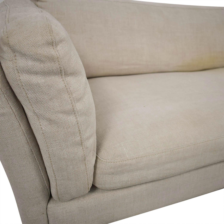 81 Off Restoration Hardware Sorensen Sofa In Belgian Natural Linen Sofas