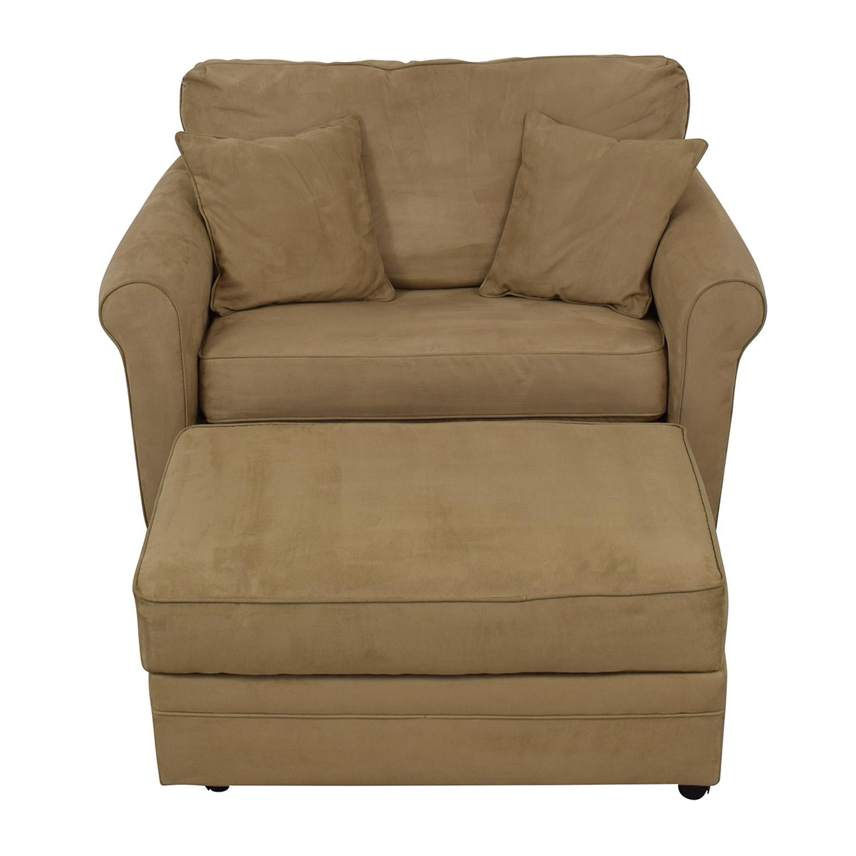 Lane Furniture Sleeper Chair & Ottoman sale
