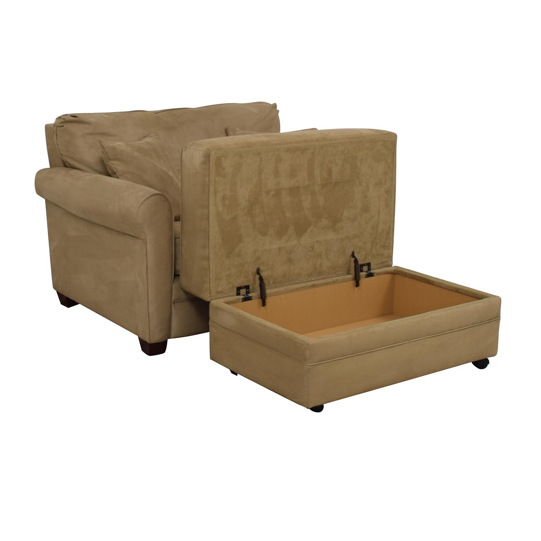 Lane Furniture Lane Furniture Sleeper Chair & Ottoman for sale