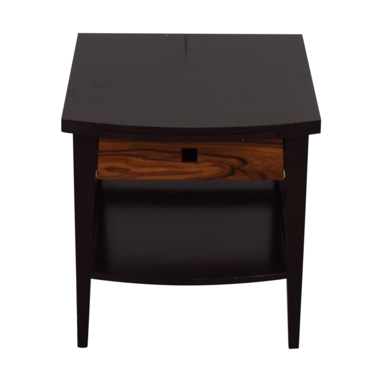 Custom Dark Wood Bedside Table nyc