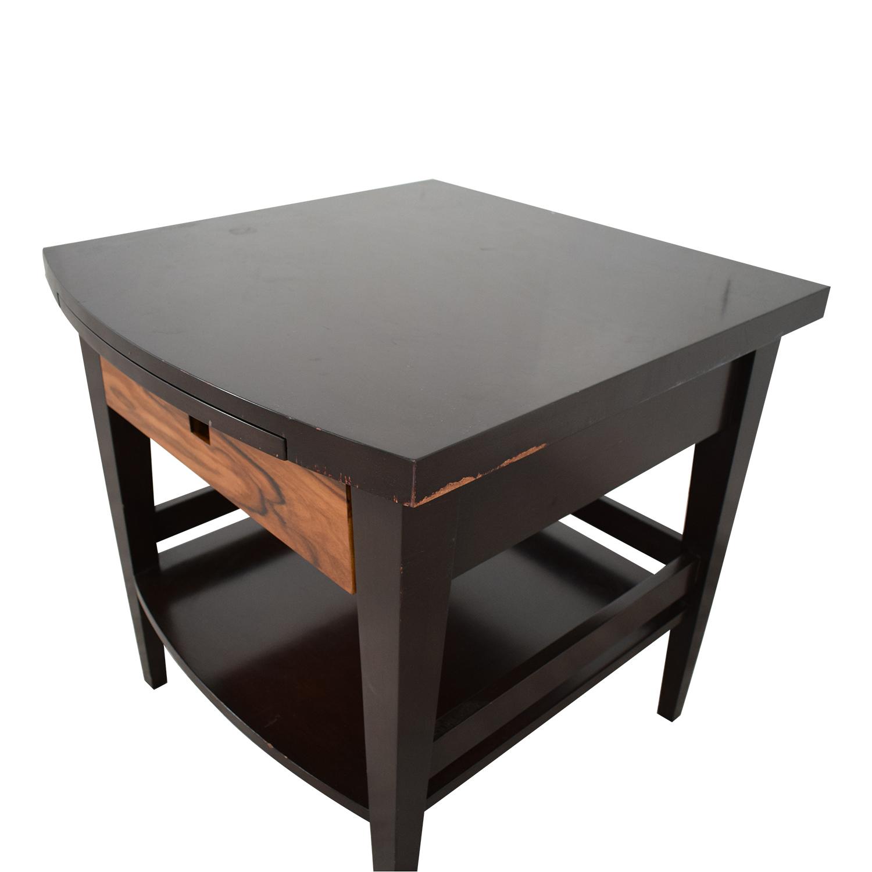 Custom Dark Wood Bedside Table for sale