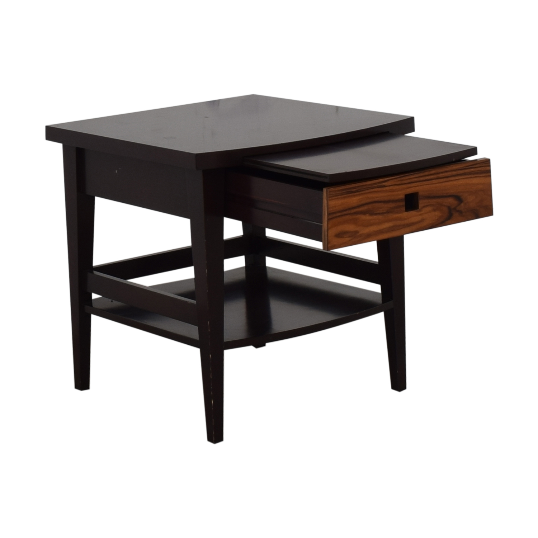 buy Custom Dark Wood Bedside Table  Tables