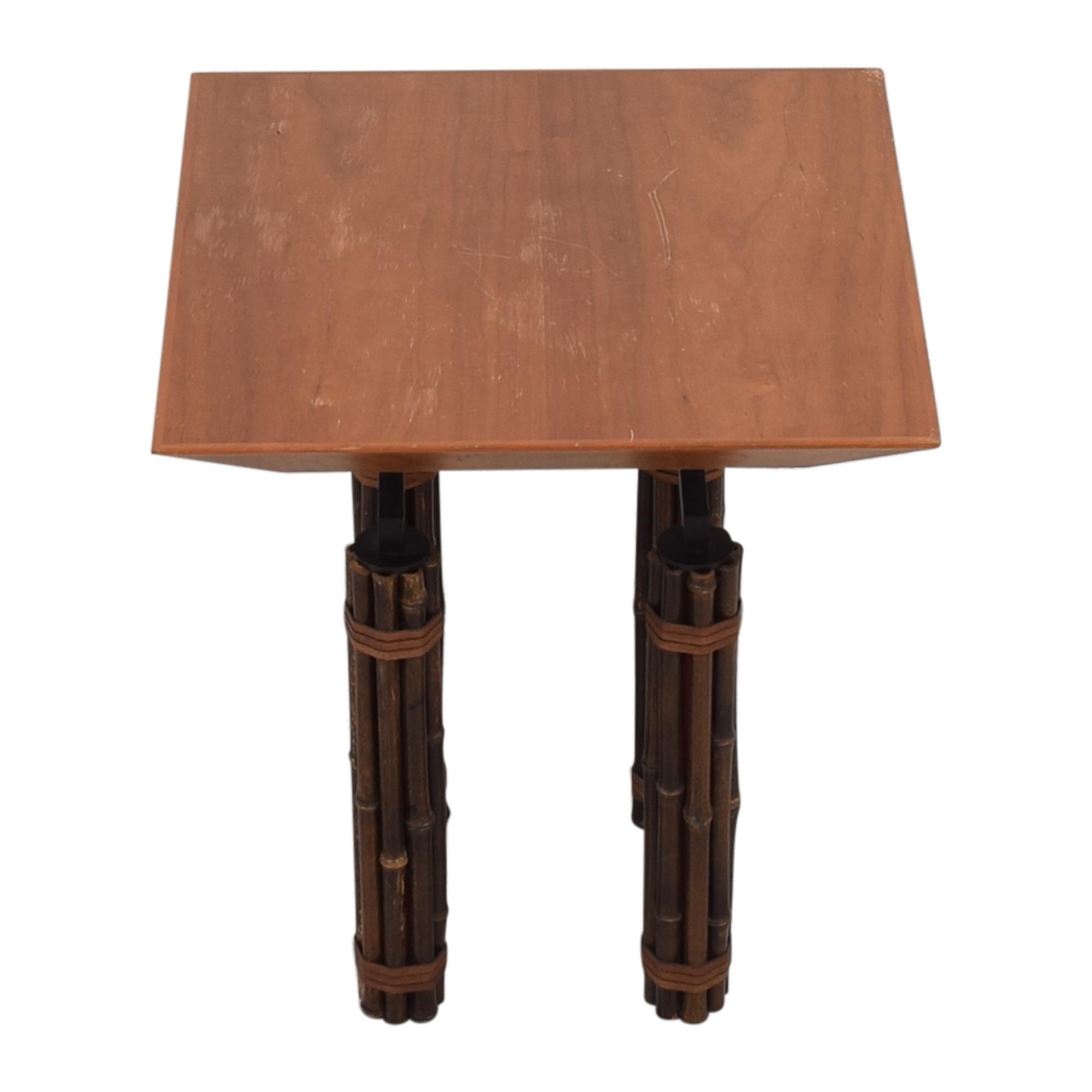 McGuire McGuire Huxley Martini Side Table used