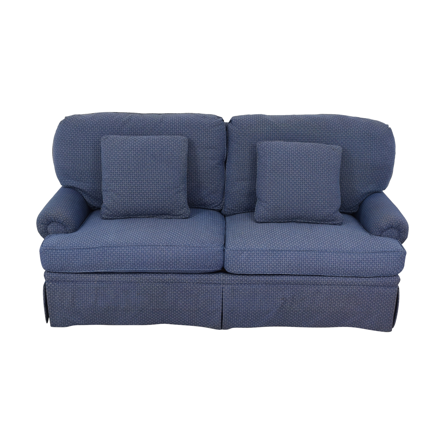 shop Calico Calico Classic Home Recessed Panel Arm Blue Down-Filled Sofa online
