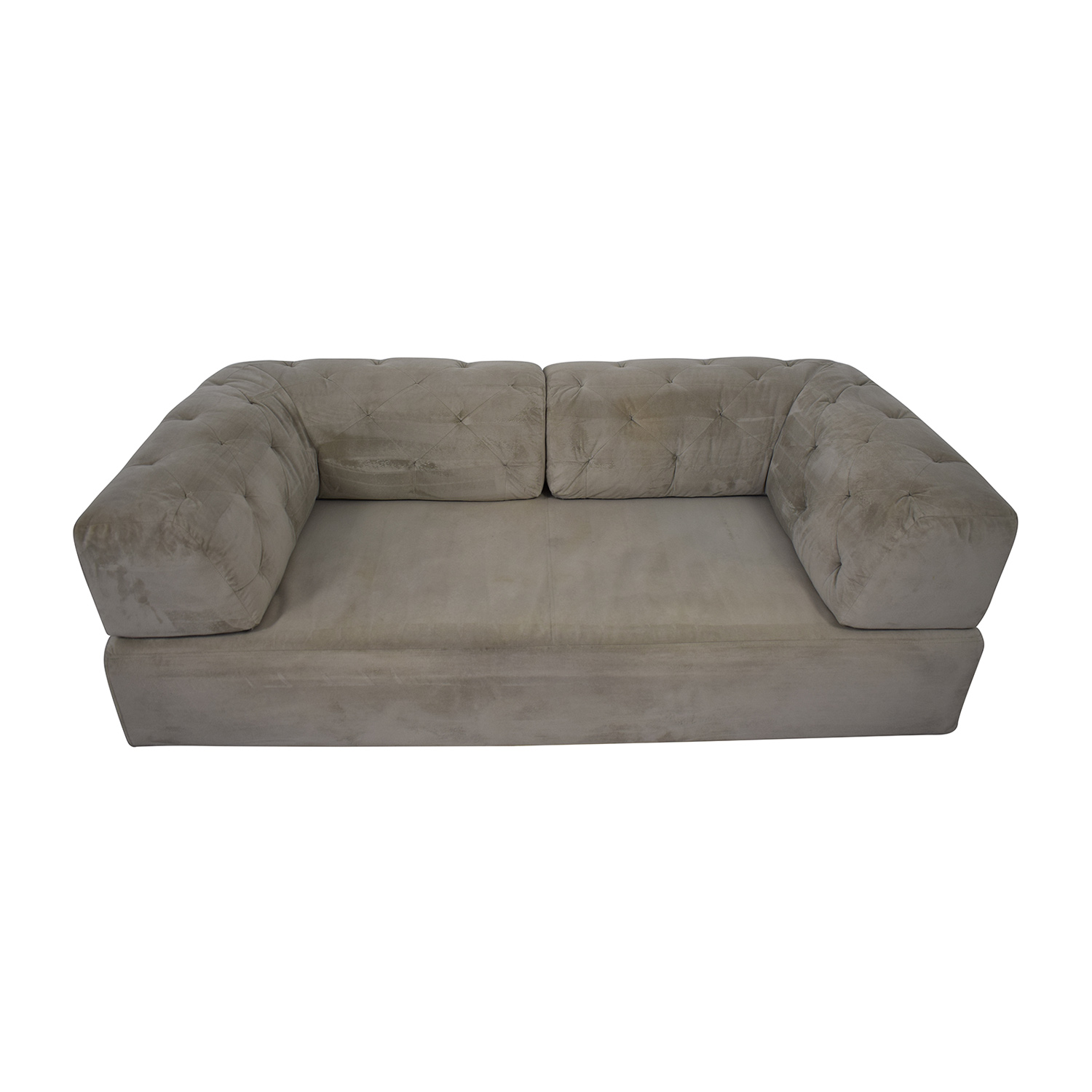 West Elm Tillary Tufted Sofa with Two Corner Cushions sale