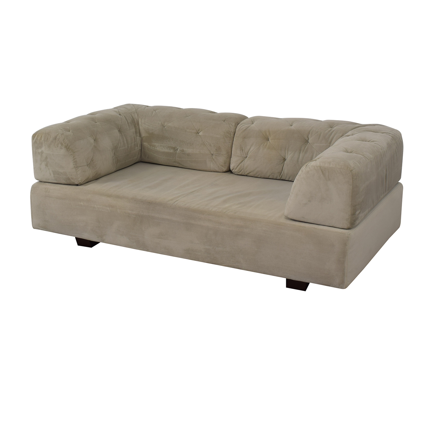 shop West Elm Tillary Tufted Sofa with Two Corner Cushions West Elm Sofas