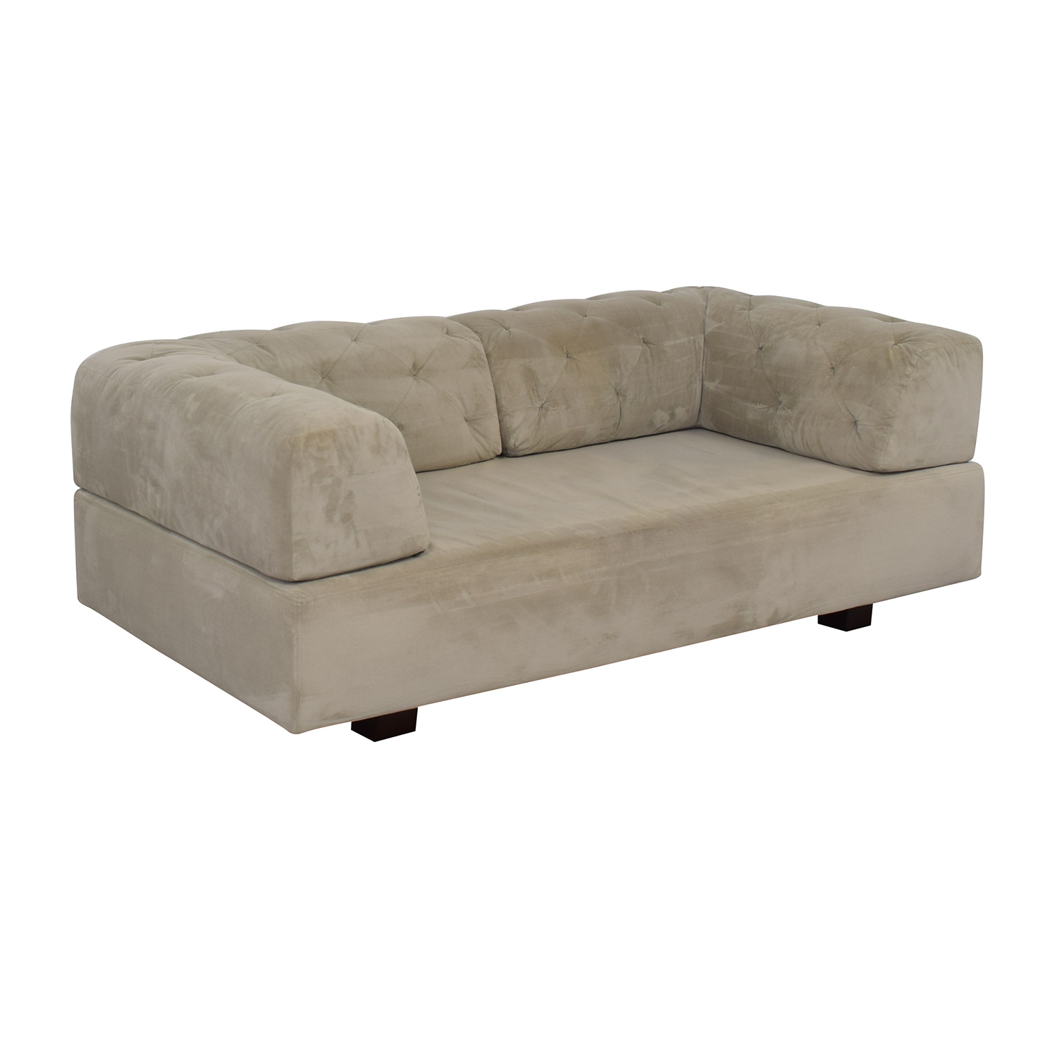 shop West Elm Tillary Tufted Sofa with Two Corner Cushions West Elm Classic Sofas