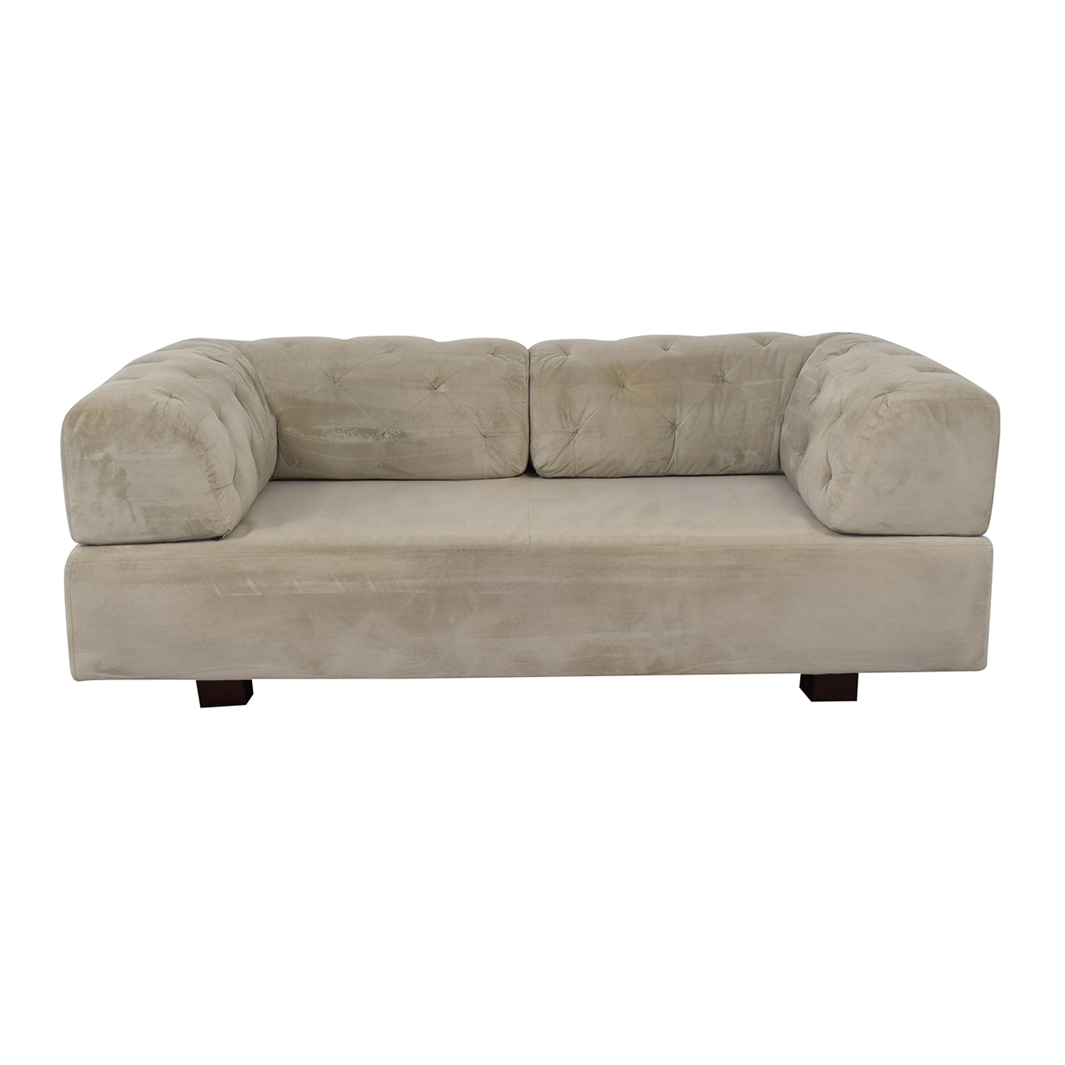 West Elm West Elm Tillary Tufted Sofa with Two Corner Cushions nj