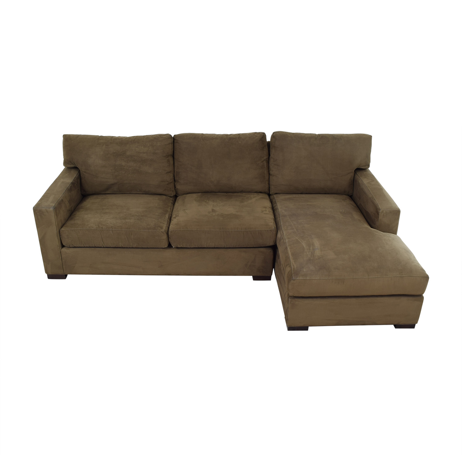 shop Crate & Barrel Sectional Sofa with Chaise Crate & Barrel