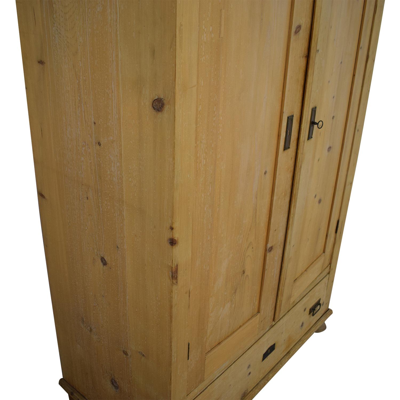 ABC Carpet & Home Antique Pine Armoire sale