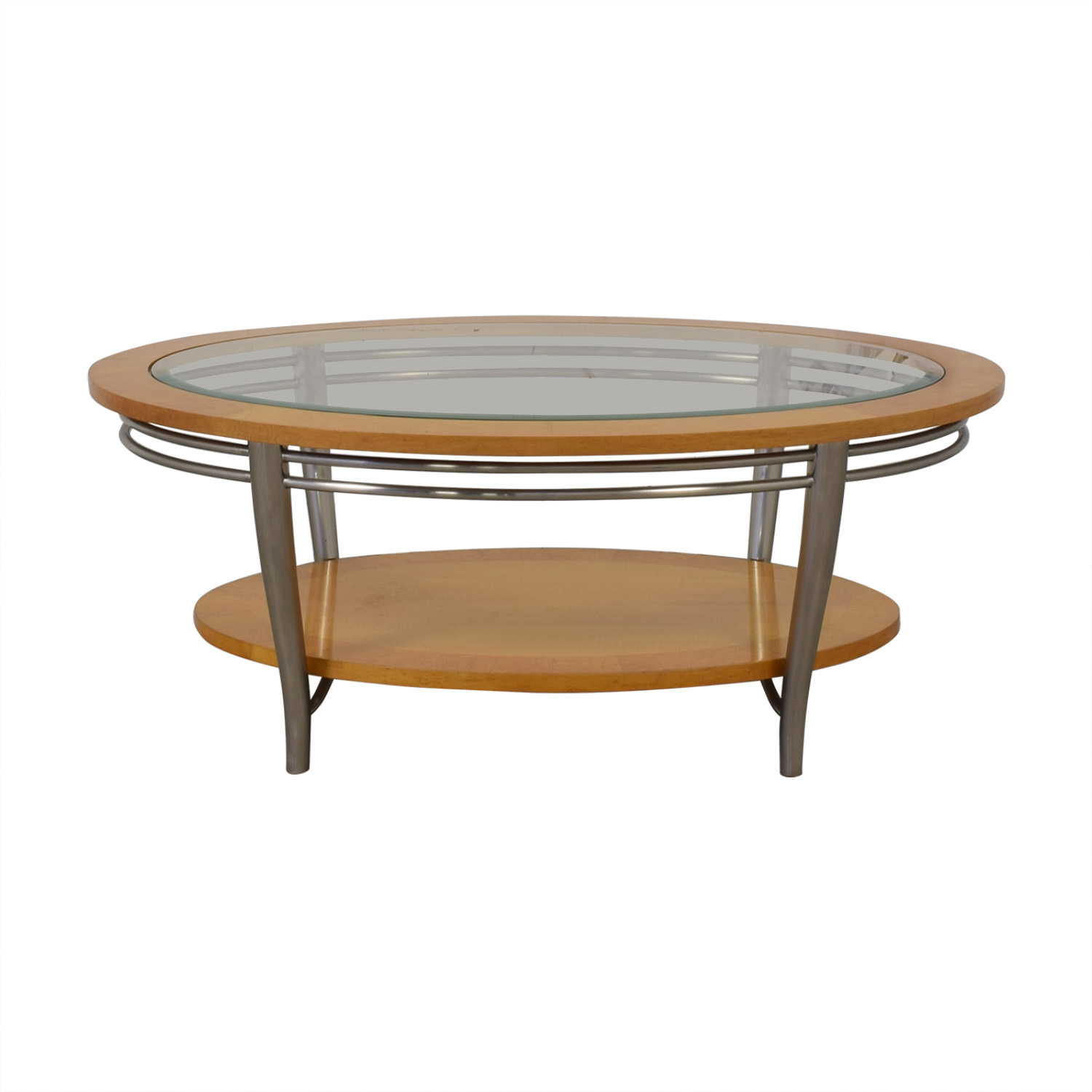 Bernhardt Bernhardt Wooden Oval Coffee Table used