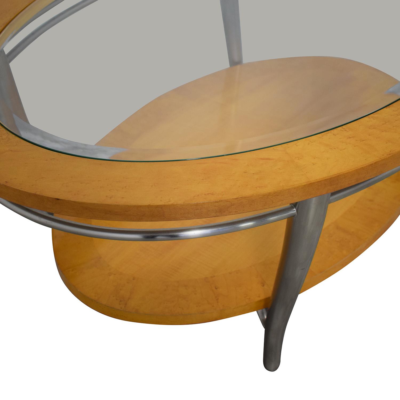 Bernhardt Bernhardt Wooden Oval Coffee Table on sale