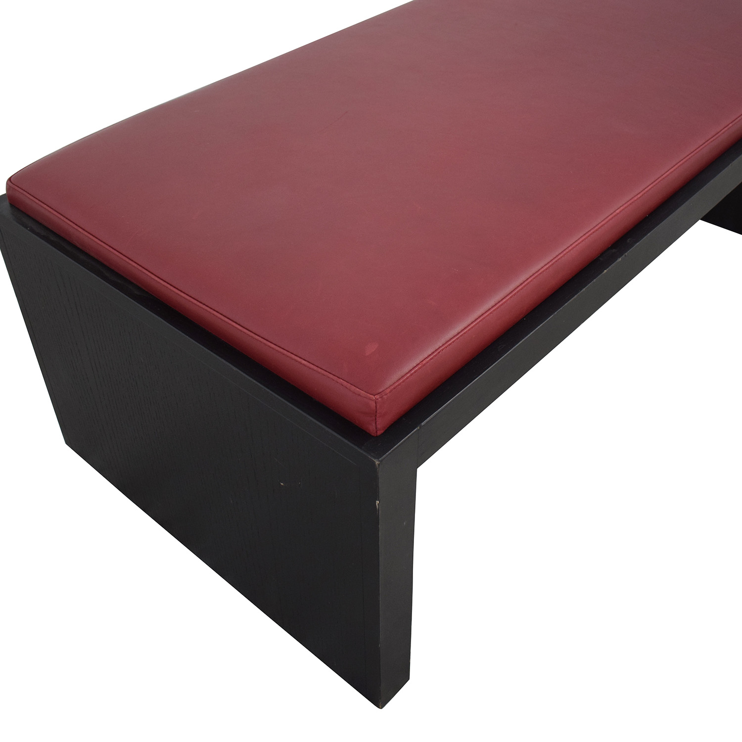 Wood and Leather Bench Coffee Table