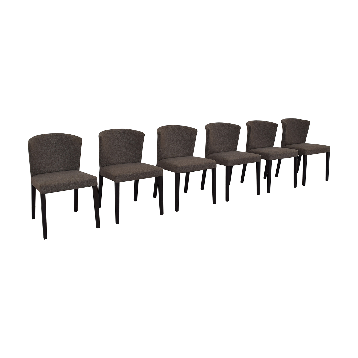 Heals of London Habitat Grey Upholstered Dining Chairs / Chairs