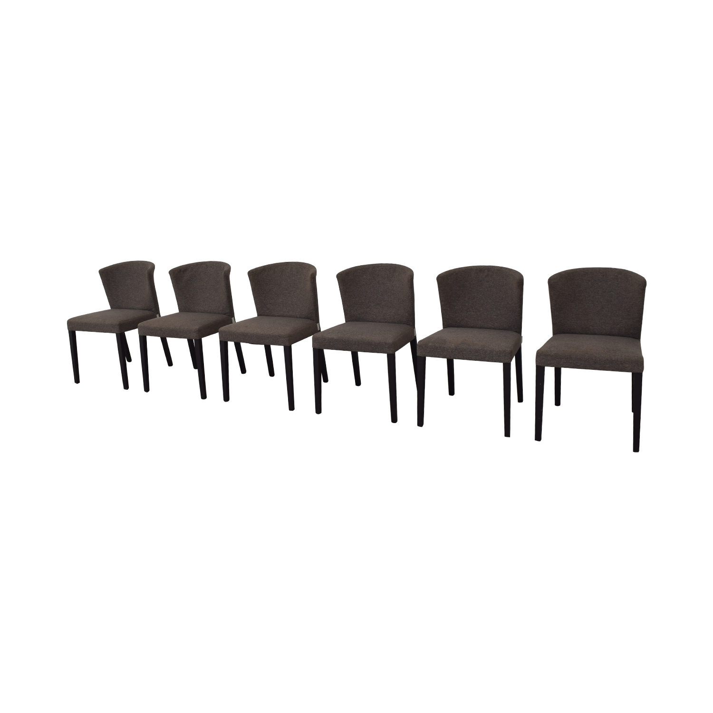 buy Heals of London Habitat Grey Upholstered Dining Chairs Heal's of London Dining Chairs