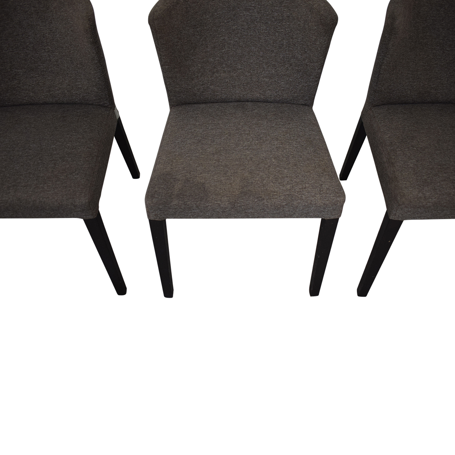 Heal's of London Heals of London Habitat Grey Upholstered Dining Chairs for sale