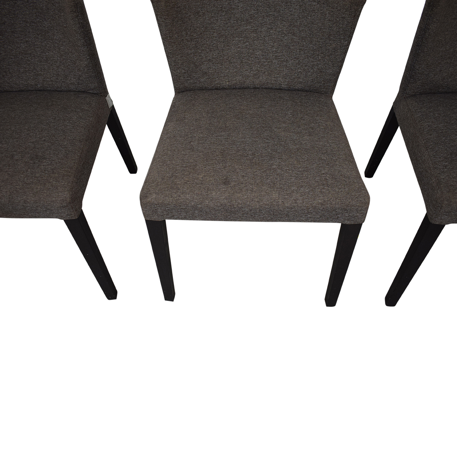 Heal's of London Heals of London Habitat Grey Upholstered Dining Chairs Gray