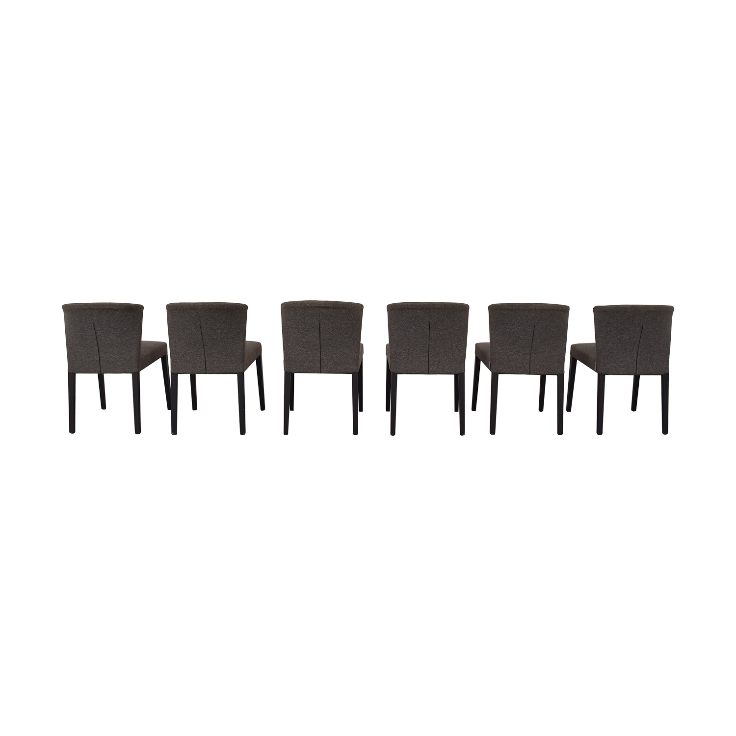 Heal's of London Heals of London Habitat Grey Upholstered Dining Chairs dimensions